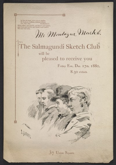 [Salmagundi Club invitation to Montague Marks]