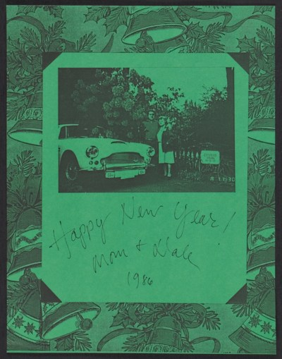 [Dale Chihuly Christmas card to the Archives of American Art]