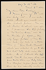[George Whitney, Philadelphia, Pa. letter to Henry Hill Collins ]
