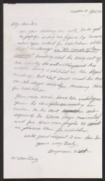 [Benjamin West letter to Sir Francis Legatt Chantrey 3]