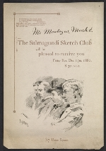 Salmagundi Club invitation to Montague Marks