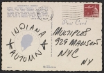 [Robert Indiana postcard to Multiples Gallery verso 1]