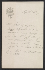 G.H. Boughton letter to Thomas M. Waller
