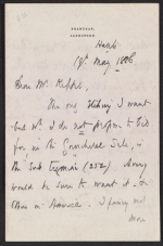 Francis Seymour Haden letter to Frederick Keppel