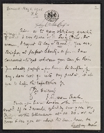 [Francis Seymour Haden letter to Frederick Keppel ]