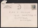 [Charles Burchfield letter to Alan M. Pensler envelope ]