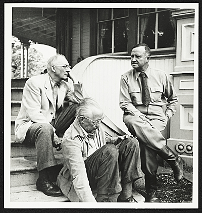 William Carlos Williams, Charles Sheeler and Carl Carmer at Carmers house