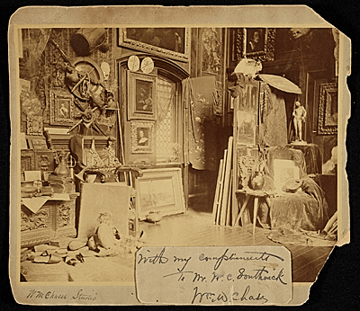 [William Merritt Chase's 10th Street studio, New York, N.Y.]