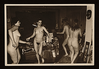 Stephanie Caloia and a group of models dancing