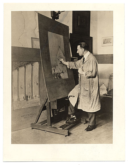 Alfred Bossom painting