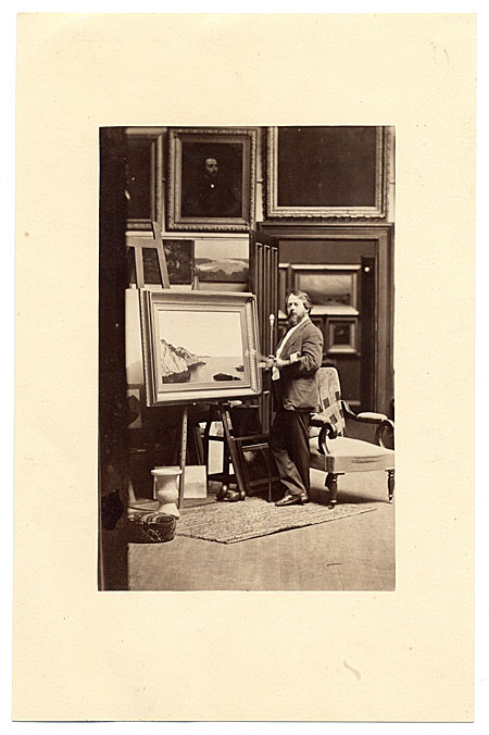 [John Frederick Kensett in his studio]