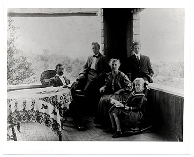 Charles Curran with his family