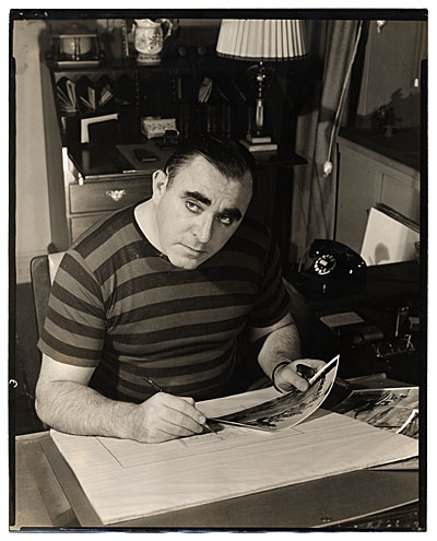 Albert Dorne sketching