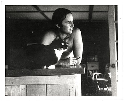 [Sidney Goodman with his cat]