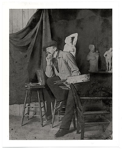 Frederick Carl Gottwald in his studio