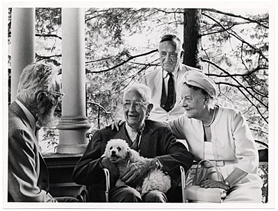 Edward Steichen, Charles Sheeler, Carl Carmer, and Mrs. Eugene Mayer