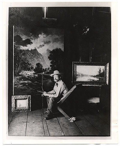 Ben W. Sears in his studio