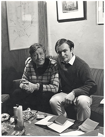 Wystan Hugh Auden and Kenneth Hari, New York City