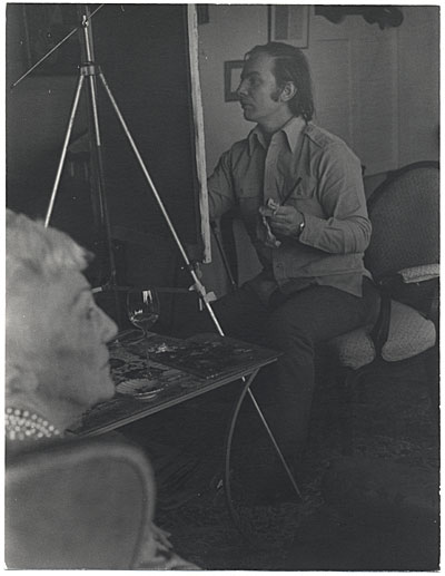 Kenneth Hari painting Katherine Anne Porter