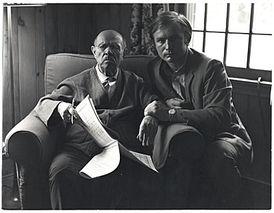 Pablo Casals and Kenneth Hari, Marlboro, Vermont