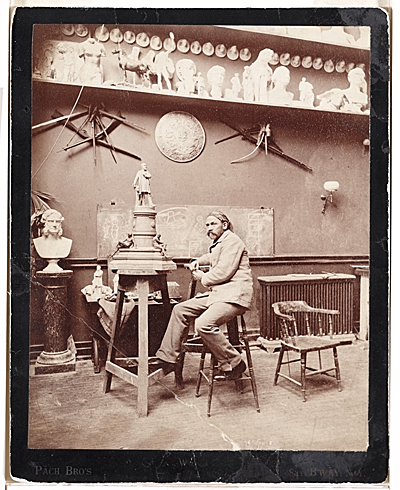 John Quincy Adams Ward in his studio