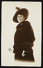Unidentified woman in fur coat