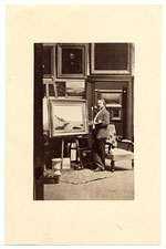 [John Frederick Kensett in his studio ]