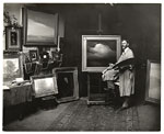 [Leon Dabo in his Brooklyn studio ]