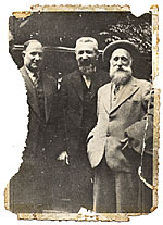 Max Weber, Aristide Maillol, and an unidentified man