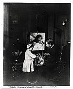 Charles Curran with his daughter, Emily, in his studio