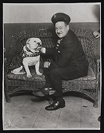 George McManus with his dog, Jiggs