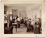 [Art class at the State School for the Deaf in Delavan, Wisconsin ]