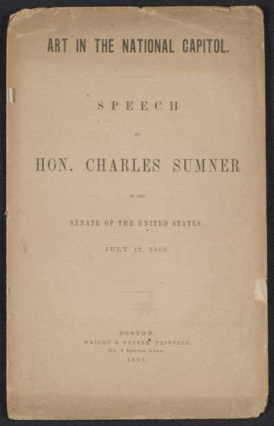 Art in the National Capitol; speech in the Senate of the United States