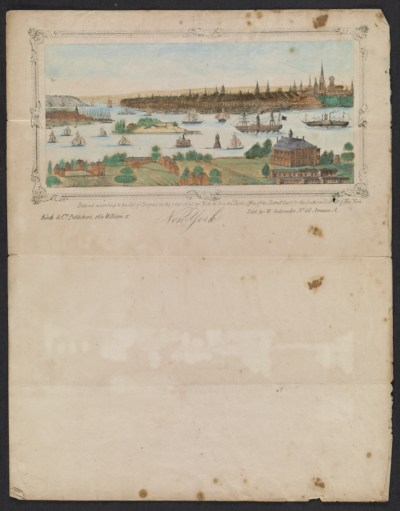 Print of New York City harbor
