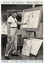 Bruce Mitchell painting for television