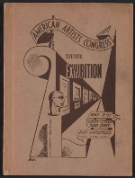 [American Artists Congress 2nd Annual Exhibition cover ]