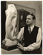 George L. K. Morris with sculpture