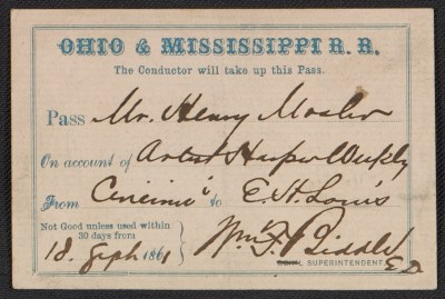 [Ohio & Mississippi rail road pass]