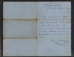 John Bonner letter of introduction for Henry Mosler