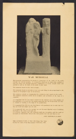 John Frederick Mowbray-Clarke poster with instructions for erection of his war memorial