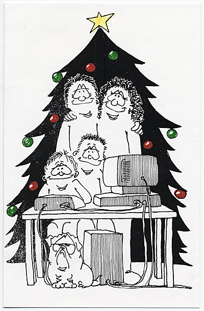 Jill Sheedy Christmas card to James Mullen