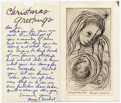 [George Zoretich Christmas card to James Mullen]