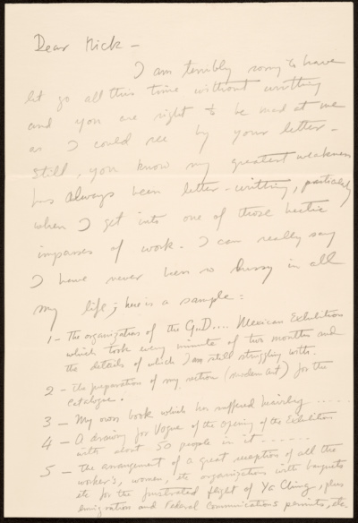 [Miguel Covarrubias letter to Nickolas Muray]