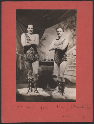 [Nickolas Muray and Ruzzie Green Christmas card]