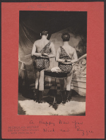 [Nickolas Muray and Ruzzie Green Christmas card verso 1]