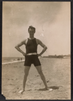Nickolas Muray on the beach