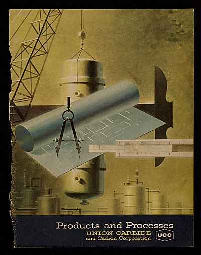 [Union Carbide magazine 'Products and Processes' cover, designed by Walter Tandy Murch]