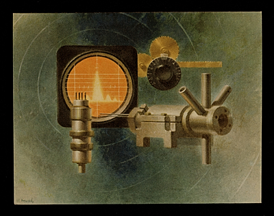[Polarad Electronics Corporation Christmas card illustrated by Walter T. Murch]