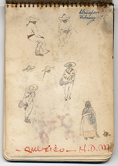 [Hermann Dudley Murphy sketchbook of travels through Mexico]