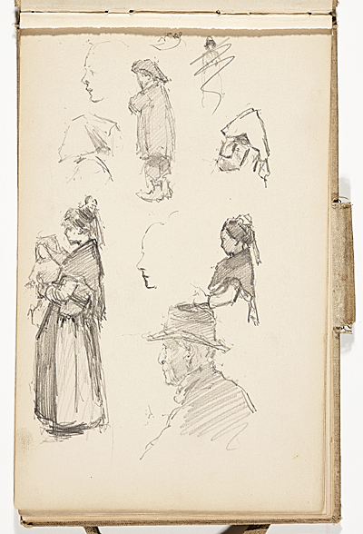 Hermann Dudley Murphy sketchbook of travels through Venice, Italy